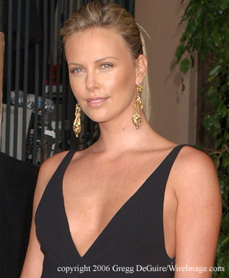 Charlize Theron grew up on a farm outside Benoni, South Africa, ...
