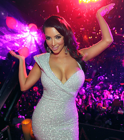 Kim Kardashian at Tao nighclub