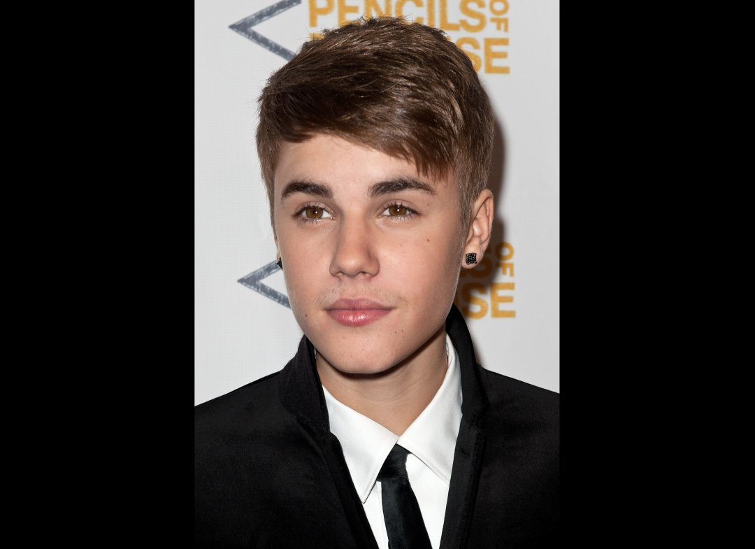 Juatin Bieber new slick hair