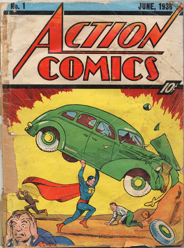 action comics superman 1st no