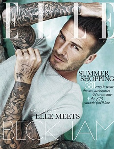 david beckam elle uk magazine