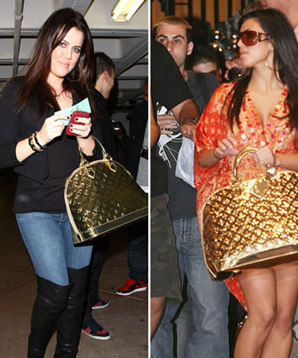 khloe kardashian louis vuitton bag