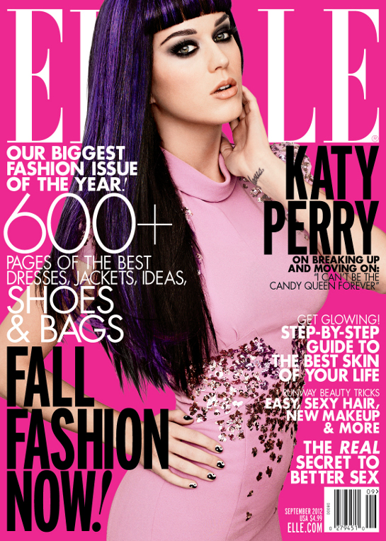 katy perry elle magazine 2012