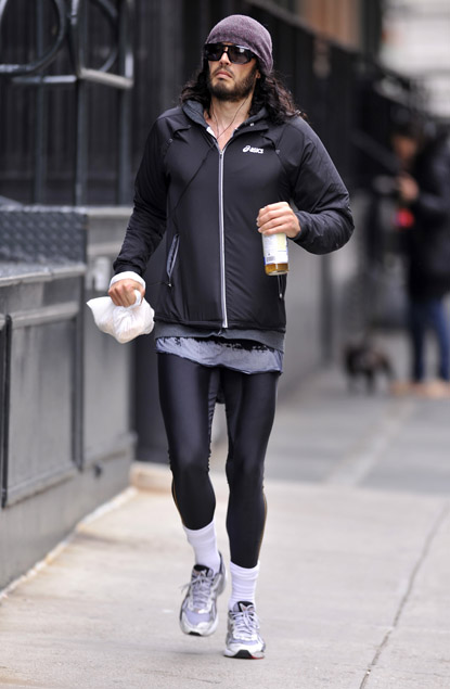 russell brand jogging